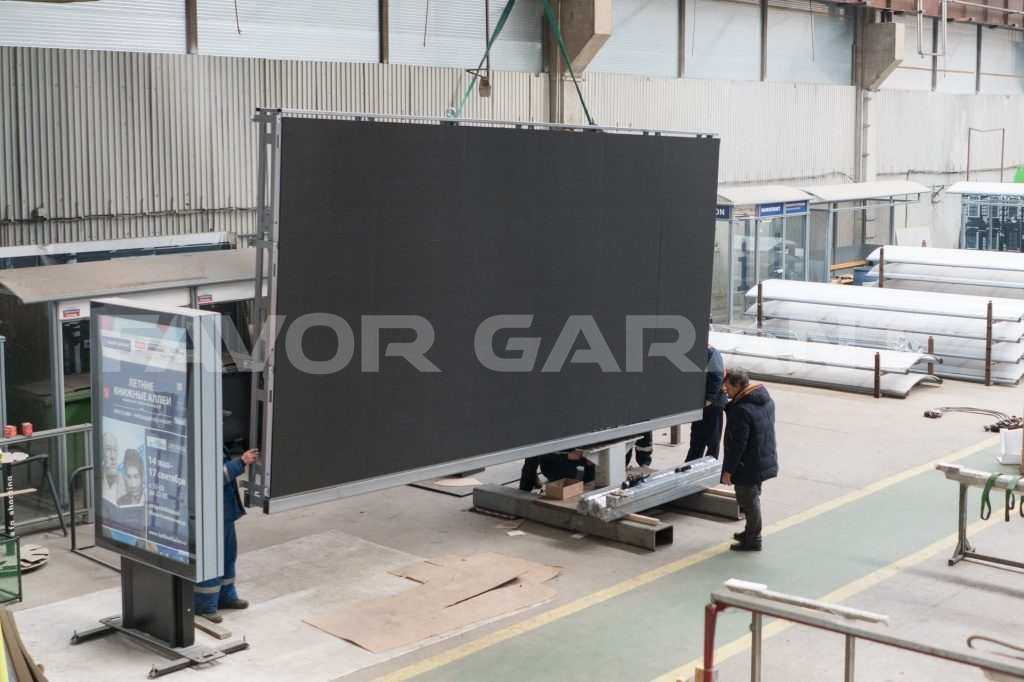 Installation of the LED screen